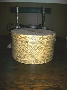 Vintage Hat Box Faux Snakeskin by RedRiverAntiques on Etsy, $28.50