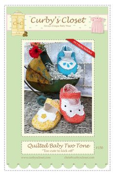 Quilted Baby Two Tone Pattern New Adorable and Fun by CurbysCloset, $7.00
