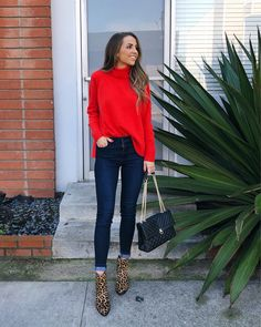 0b06c9111e8 Instagram Roundup + Weekend Sales. Turtleneck Outfit WinterRed Sweater ...