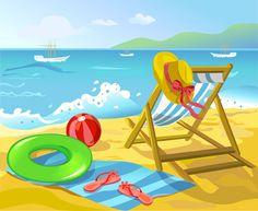 Summer beach travel backgrounds vector 03