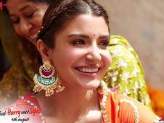 Anushka Sharma Jab Harry Met Sejal Virat And Anushka, She Movie, Anushka Sharma, Katrina Kaif, Beautiful Actresses, Love Her, Bollywood, Drop Earrings, Fashion