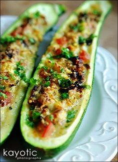 ~ Stuffed Zucchini ~ Yes, there IS an easier way than we learned years ago!  Easy to follow instructions  =)