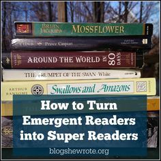 How to Turn Emergent Readers into Super Readers- How to make a fluent reader out of a student just finished with a phonics program?