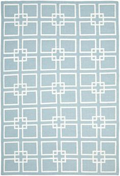 Safavieh Martha Stewart MSR1151B Square Dance Geyser Blue Rug