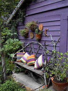 Genius and Low Budget Pallet Garden Bench for Your Beautiful Outdoor Space No 38 Dream Garden, Home And Garden, Pallet Garden Benches, Potting Benches, Potting Sheds, Magical Home, Farmhouse Garden, Farmhouse Bench, Rustic Bench