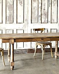 Park Hill Collection French Country Farm Table with Drawers