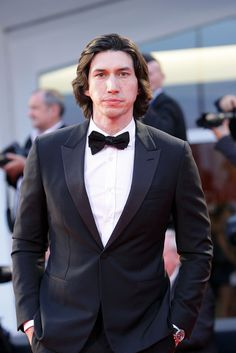 Adam Driver donned a tux for at the Venice Film Festival.