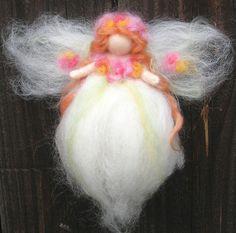 Needle felted 8 Ethereal Garden Fairy Waldorf inspired  von Nushkie, $28,00