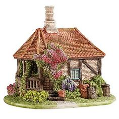 Lilliput Lane The Bakery Wellhouse got this one last day in London found it hotel lobby next door to our hotel Clay Fairy House, Fairy Garden Houses, Roof Styles, House Styles, Dolly House, Halloween Miniatures, Fairy Crafts, Ceramic Houses, Miniature Houses