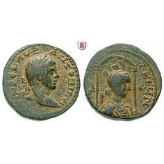 Römische Provinzialprägungen, Seleukis und Pieria, Laodikeia ad mare, Elagabal, Bronze, ss: Seleukis und Pieria, Laodikeia ad mare.… #coins
