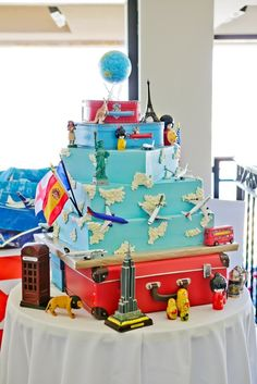 travel themed cake - Google Search