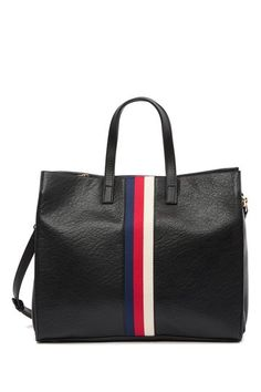 Bally look alike inspired dupe tote bag Stripe Tote Bag by Urban Expressions on Large Bags, Small Bags, Medium Sized Bags, Striped Tote Bags, Shopper Bag, Casual Bags, Body Bag, Bag Making, Clutch Bag