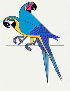 Clifford Richards — Parrots screen-print (1972)