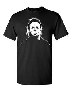 Michael Myers Mask Halloween Trick or Treat Funny Mens Tee Shirt