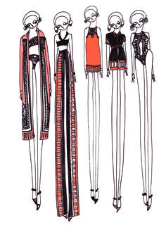 Illustration by Holly Fulton, from Fashion Designers' Sketchbooks 2.