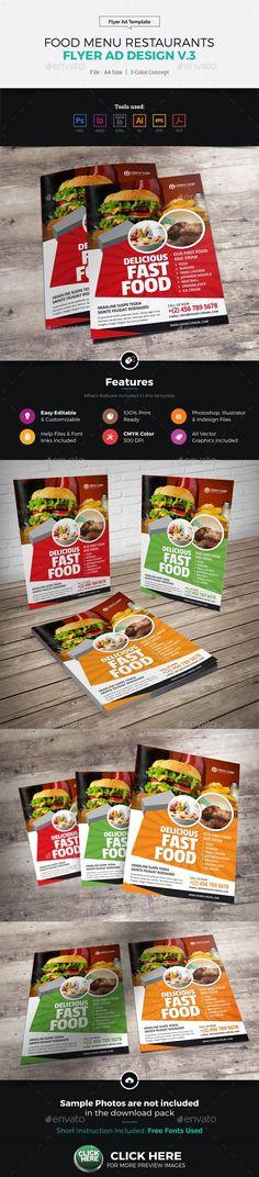 Restaurant Business Flyer Bundle 3 Bundle Warehouse Pinterest