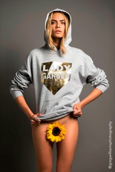 The model was styled by sister Poppy Delevingne for the charity shoot