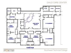 Gallery of building layout daycare design classroom floor plan home - daycare center layouts Childcare Rooms, Daycare Rooms, Home Daycare, Daycare Ideas, Childcare Activities, School Ideas, The Plan, How To Plan, Floor Plan Sketch