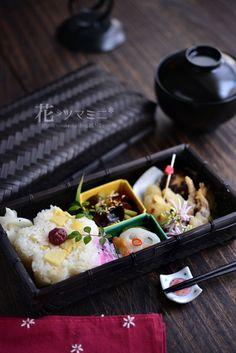 筍ごはんの籠弁当 - Spring banboo Rice BENTO