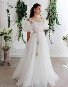 White round neck lace tulle long prom dress white lace evening dress from of girl Lace Evening Dresses, Elegant Dresses, Day Dresses, Pretty Dresses, Prom Dresses, Dresses With Sleeves, Formal Dresses, Wedding Dresses, Corset Wedding Gowns