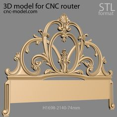 Cnc Router, Bed Furniture, 3d Design, 3d Printing, Ceiling Lights, 3ds Max, Interior Design, Columns, Antiques