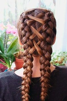 24 Cute Double Dutch Braids Ideas   Everyday Hairstyles   Pinterest     30 Best Hairstyles with Braids You Can Wear any Time