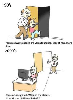 Comic - 90s kids vs Now - http://www.jokideo.com/