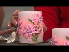 Candle Impressions S/2 Painted Flower Flameless Candle w/ Timer with Shawn Killinger - YouTube
