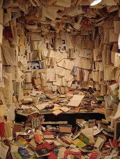 Insanely messy office- This is not ok! That is why you should Wevolutionsolution.com to help you get organized!