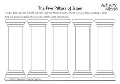 five pillars of islam coloring page islamic printables pinterest islamic islam and activities. Black Bedroom Furniture Sets. Home Design Ideas