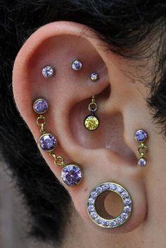 10 Cool Ear Piercings to Amp Up Your Ear Game Rook Earrings Helix Piercing Cartilage Stud Tragus Barbell Ear Plugs Cool Ear Piercings, Helix Piercings, Multiple Ear Piercings, Body Piercings, Piercing Tattoo, Unusual Piercings, Body Jewellery, Ear Jewelry, Fine Jewelry