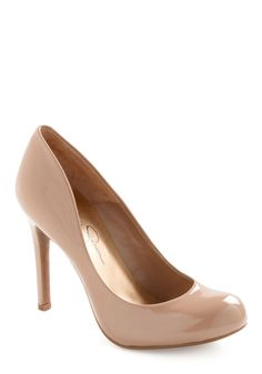 Wishing and Hoping Heel in Taupe - Work, Vintage Inspired, Tan, Solid, Party, Leather, High