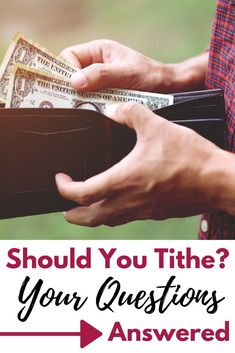 Tithing is such a controversial topic. Lots of people are so hesitant to tithe. Should you tithe? Find out the truth about tithing here. Learn The Bible, Book Of Hebrews, God Will Provide, Controversial Topics, Christian Resources, Christian Living, Christian Inspiration, Helping People, Christianity
