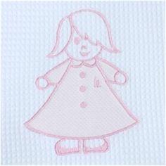 Colcha bordada LUCIA en rosa