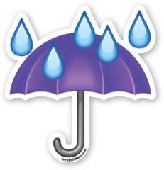 Resultado de imagen para emoticon de paraguas