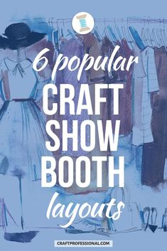 6 popular craft show booth designs. Here are 6 popular layouts vendors use in a 10 x 10 booth space. Plus the pros and cons of each setup, so you can choose the design that's right for you. #craftbooth #craftprofessional Vendor Displays, Craft Booth Displays, Display Ideas, Selling Crafts Online, Craft Online, Craft Business, Business Ideas, Craft Show Booths, Selling Handmade Items