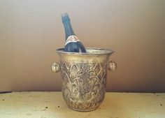Vintage Silverplate Repousse Champagne Bucket by GladStoneatHome