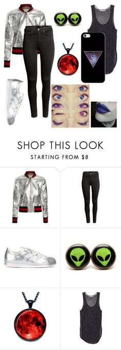 """""""Untitled #7"""" by cottoncandyprince ❤ liked on Polyvore featuring Gucci, H&M, adidas Originals and Casetify"""