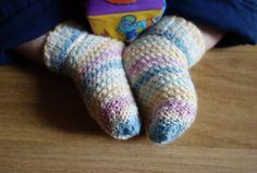 Hand knitted baby girl sockstoddler socks-baby by TheOwlmadeit