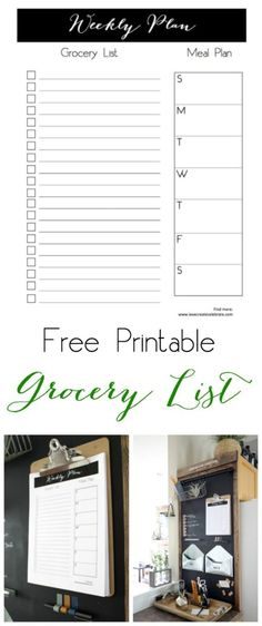 Chic printable groce