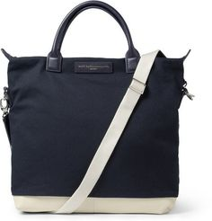 OHare Leather Trimmed Cotton Canvas Tote Bag | WANT Les Essentiels de la Vie