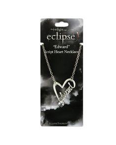 **Twilight Eclipse** Edward Script Heart Necklace ~ BNIP Stainless Steel