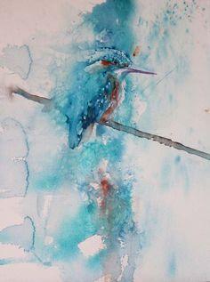 63 Ideas Tiny Bird Tattoo Watercolor Art Prints For 2019 Bird Painting Acrylic, Watercolor Painting Techniques, Watercolor Paintings, Watercolours, Watercolor Portraits, Painting Tutorials, Abstract Paintings, Watercolor Quilt, Watercolor Animals