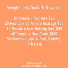 Motivate to Lose Weight! Make a Weight Loss Goals & Rewards chart and display it somewhere you'll see it every day.