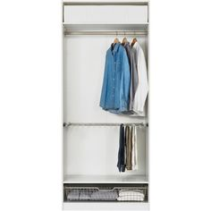 IKEA PAX Wardrobe with interior organizers, white, Risdal white (6,640 MXN) ❤ liked on Polyvore featuring home, home improvement, storage & organization and decor