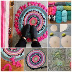 TUTORIAL Telaio fai da te per tappeto DIY