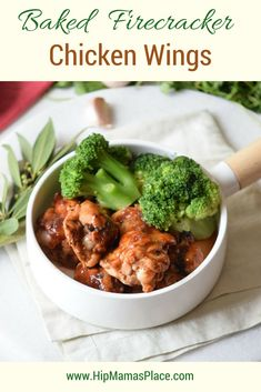 Perfect game day chicken recipe: Baked Firecracker Chicken Wings! #SuperBowlSunday #Food #recipes #foodie #Superbowlrecipes