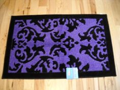 Girls Bedroom Decor Purple And Black Plush Throw Rug Teen Room By Classic  Styling. $49.99