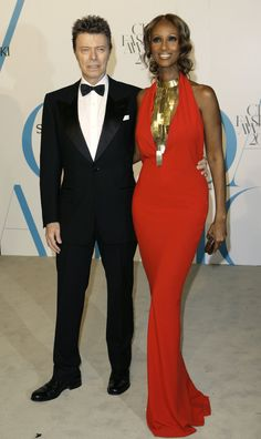 Model-turned-actress Iman flew into Chicago one recent Sunday with fiance David Bowie to have her favorite photographer, Victor Skrebneski, take the couple's official engagement picture. Description from tumblr.com. I searched for this on bing.com/images
