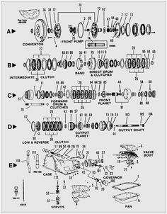 GM #4L60E #transmission valve body parts diagram. Buy